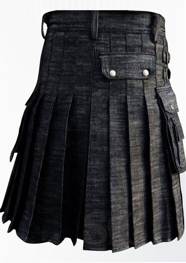 Best Quality Denim Kilt Design 1