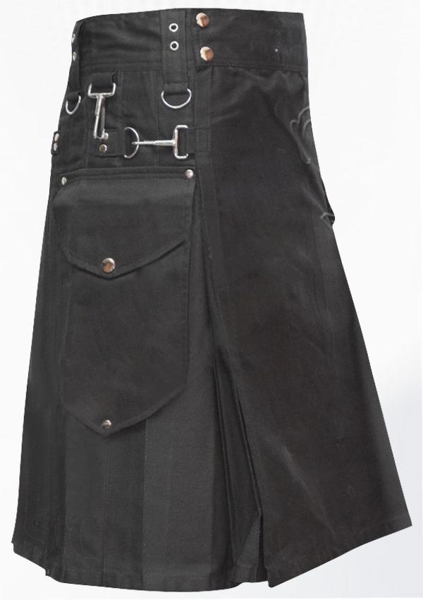 Black Utility Kilt Design 63
