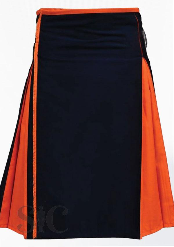 Classic Hybrid Black Orange Kilt Design 53