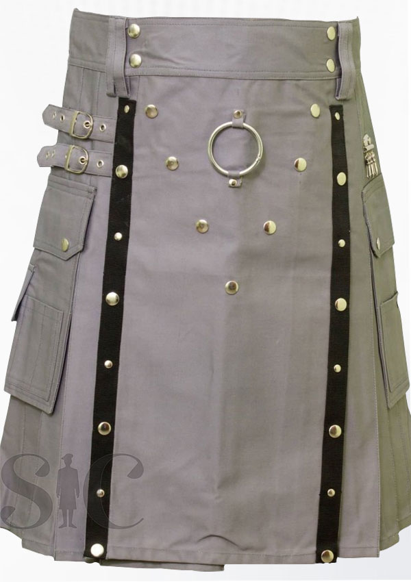 Grey Utility Kilt Scotland Clothing Design 39