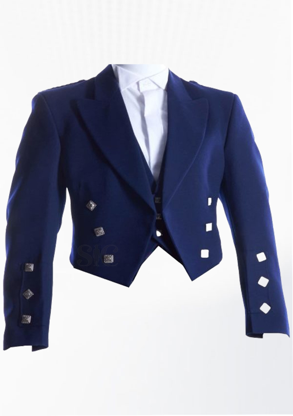 PrinceCharlie Jacket With Three Buttons Navy Blue Design 14