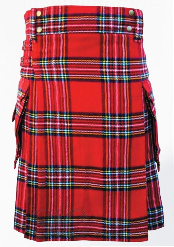 Royal Stewart Tartan Utility Kilt Scotland Clothing Design 121