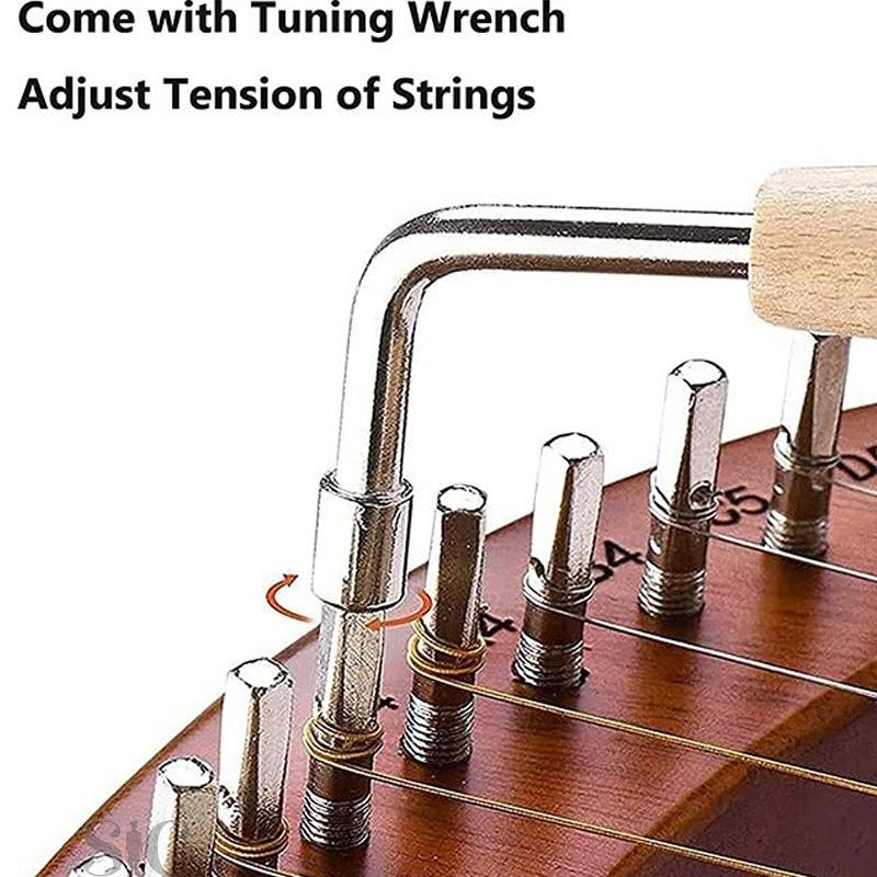 Lyre Harp,19 String Wood Lye Harp,19 String Lyre Design 74