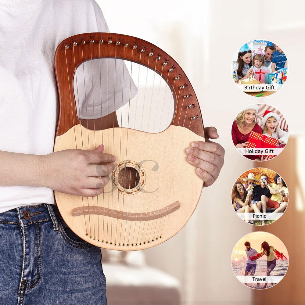 16 String 19 String Lyre harfa z litego drewna Instrument Design 52