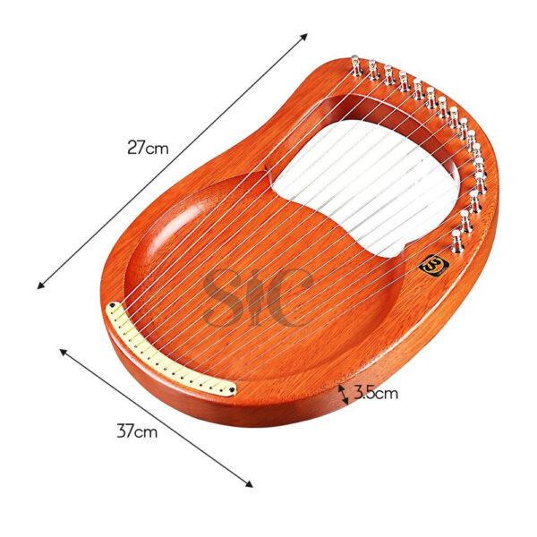 16-ciąg drewniane Lyre harfa metalowe struny mahoń Design 51