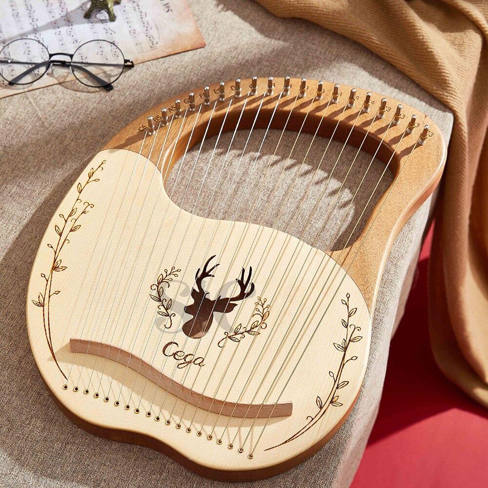 19 String Wood Lined mała harfa Laiya Piano łatwe do opanowania Design 53