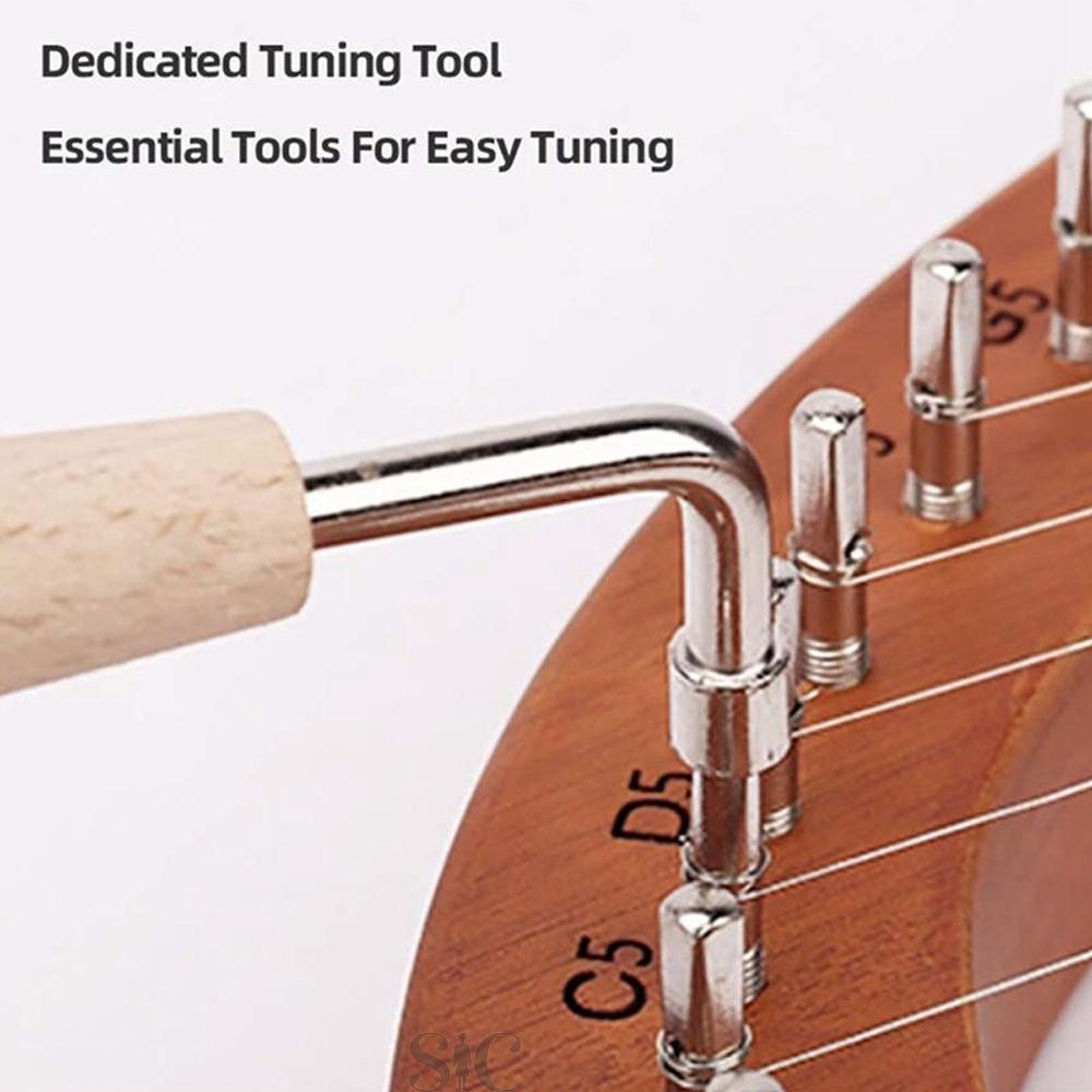 Lyre Harp,Greek Violin,16 String Harp Solid Wood Design 80