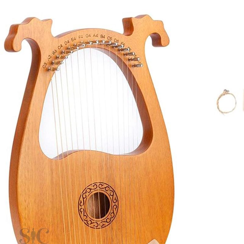 Lyre Harp,16 Wooden String Harp Solid Wood Design 75