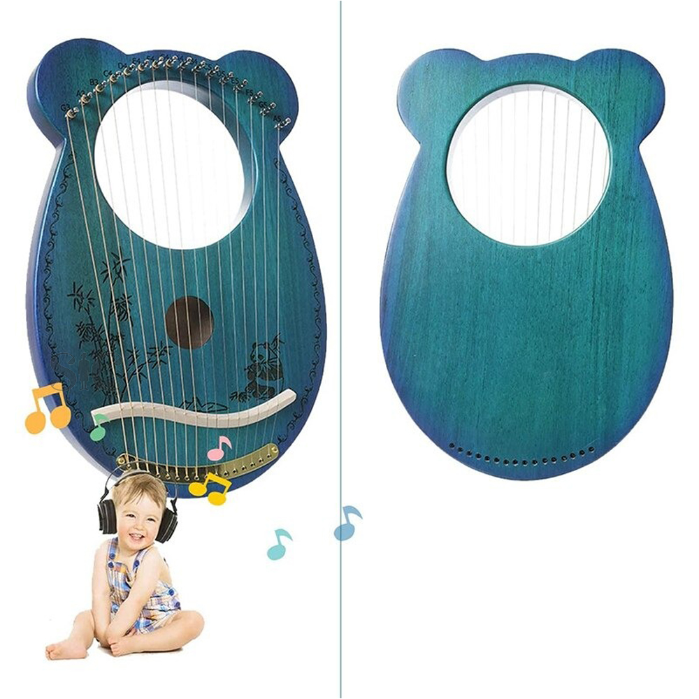 Lyre Harp ,Mahogany 16 String Harp,Mini Portable Design 83