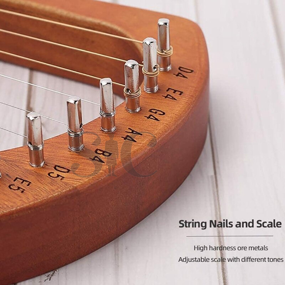 Hot-Lyre Harp,Greek Violin,16 String Harp Solid Wood Mahogany Lyre Harp Design 25 (5)