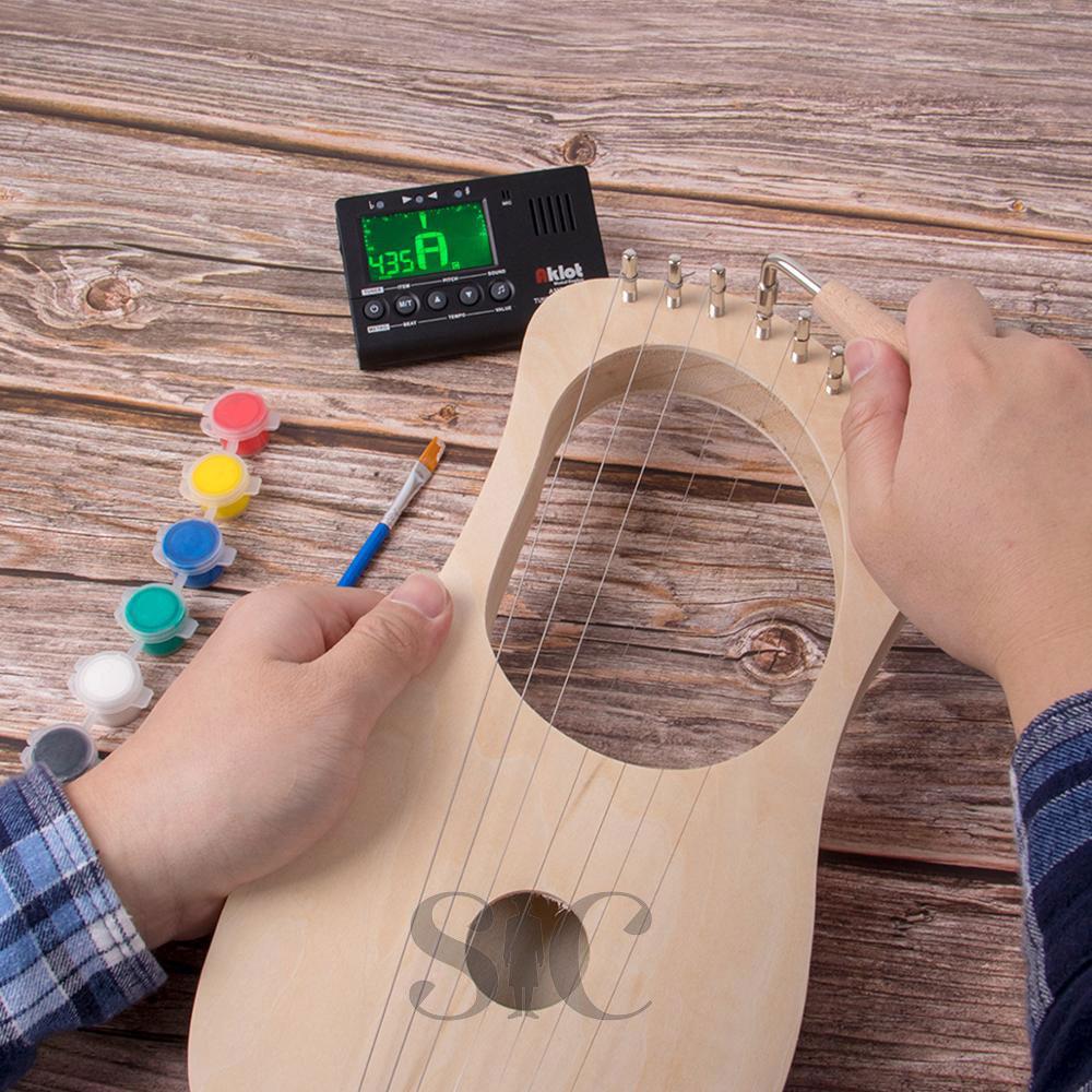 Kmise Lyre harfa 7 ciąg DIY biżuteria zestaw narzędzi Design 43