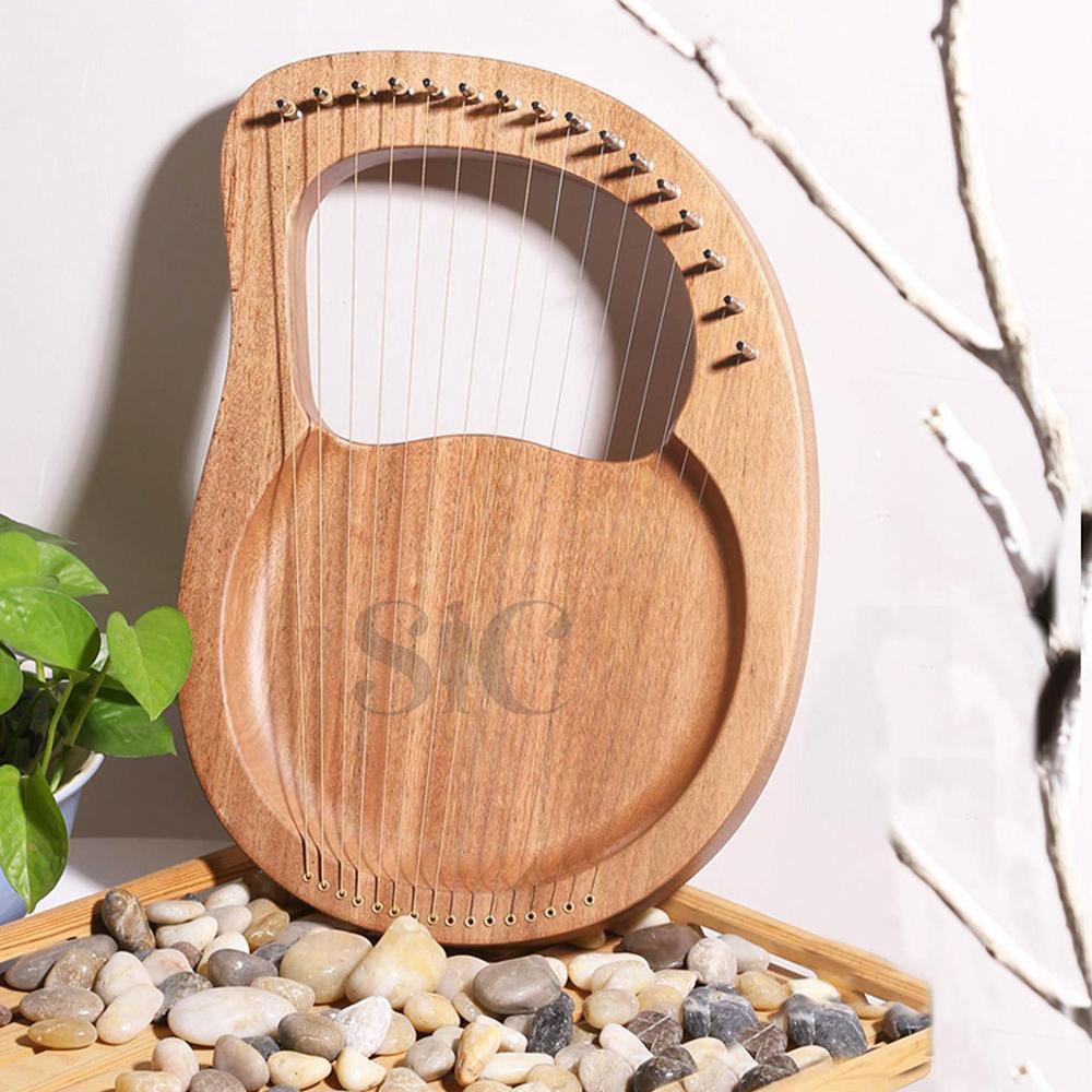 Lyre Harp 16 Strings Mahogany Wood Lye Harp Design 58