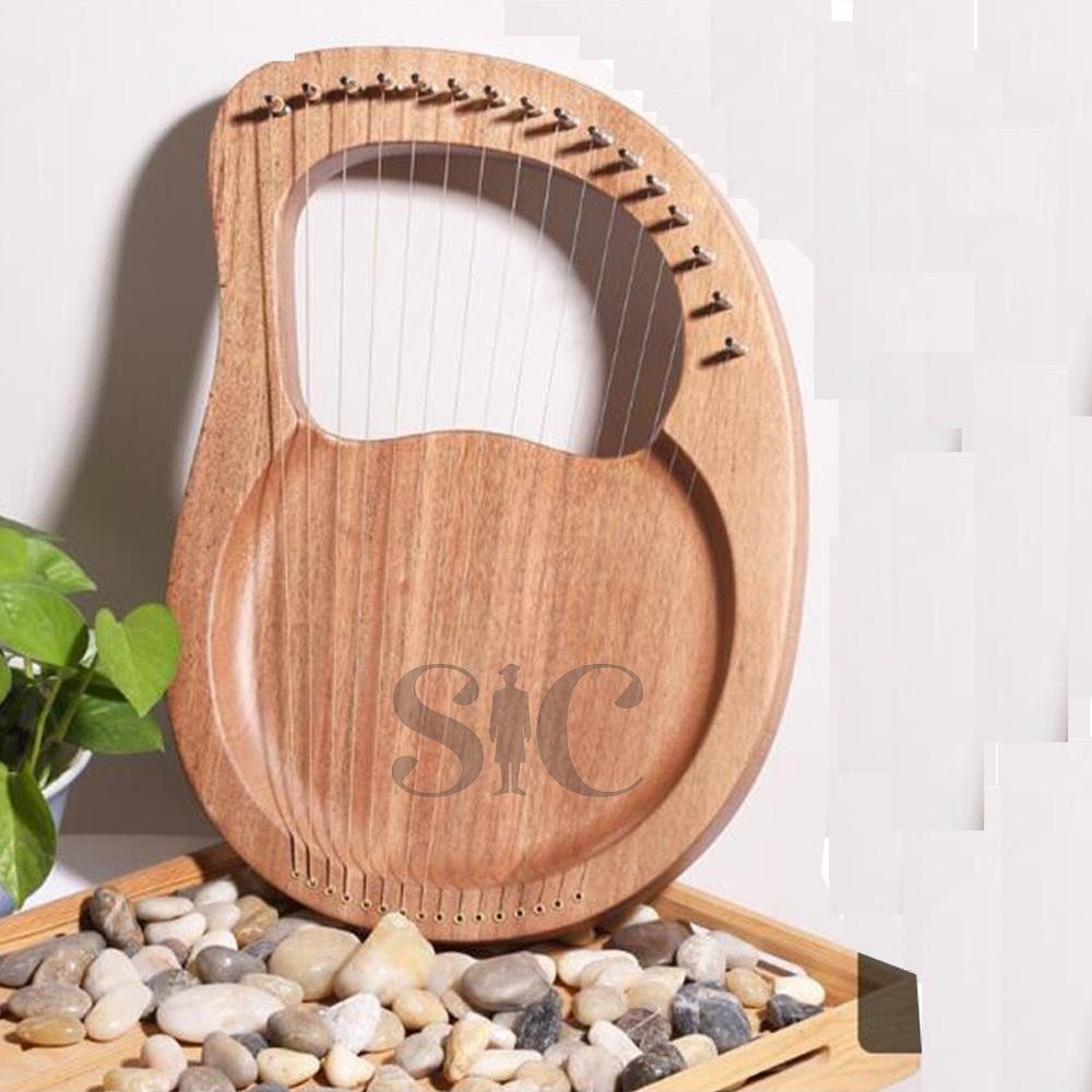 Lyre Harp String Harp Mahogany Body Lyra Design 4