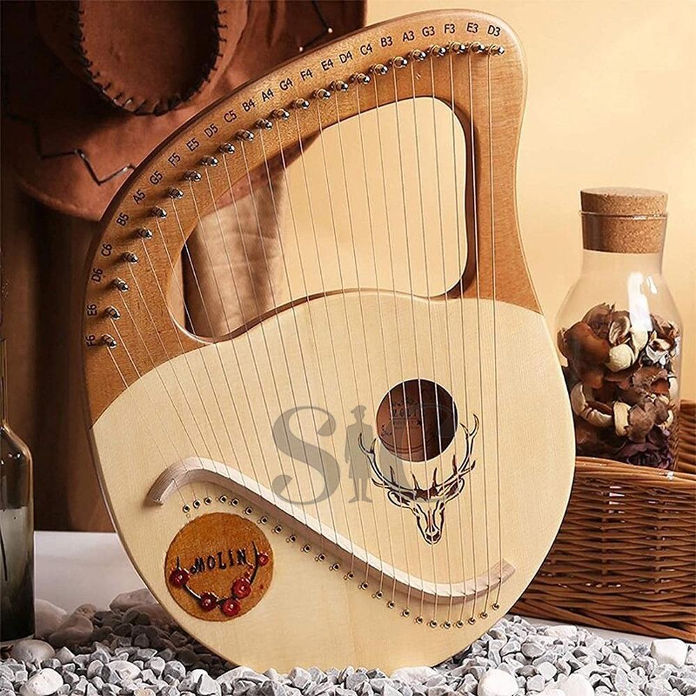 Lyre Harp,Greek Violin,24 String Wooden Lyre Design 16
