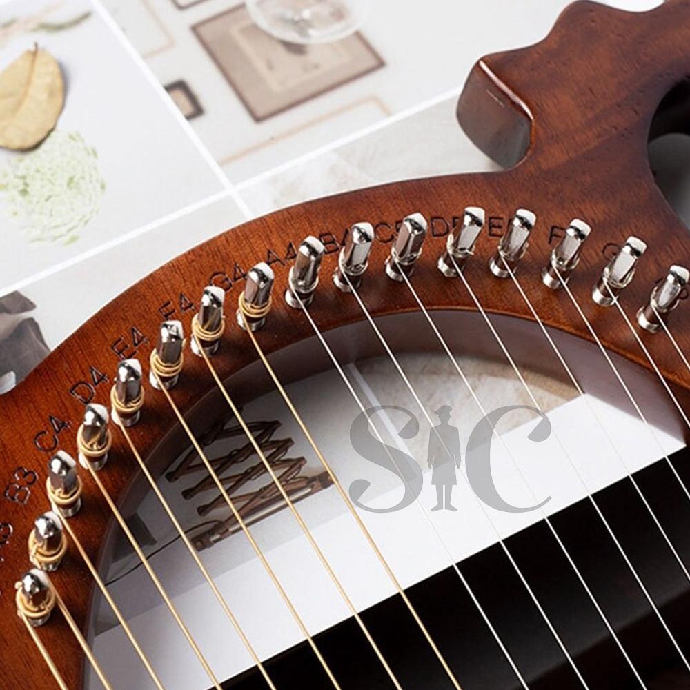 Lyre harfa, 16 ciąg mahoniowy korpus Instrument strunowy Body Design 39