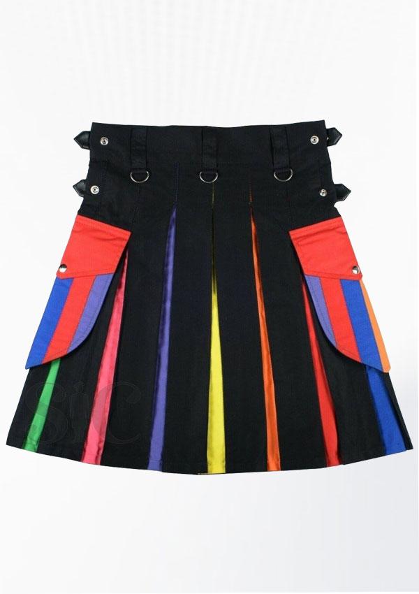 Men Rainbow Utility Hybrid Kilt design 19