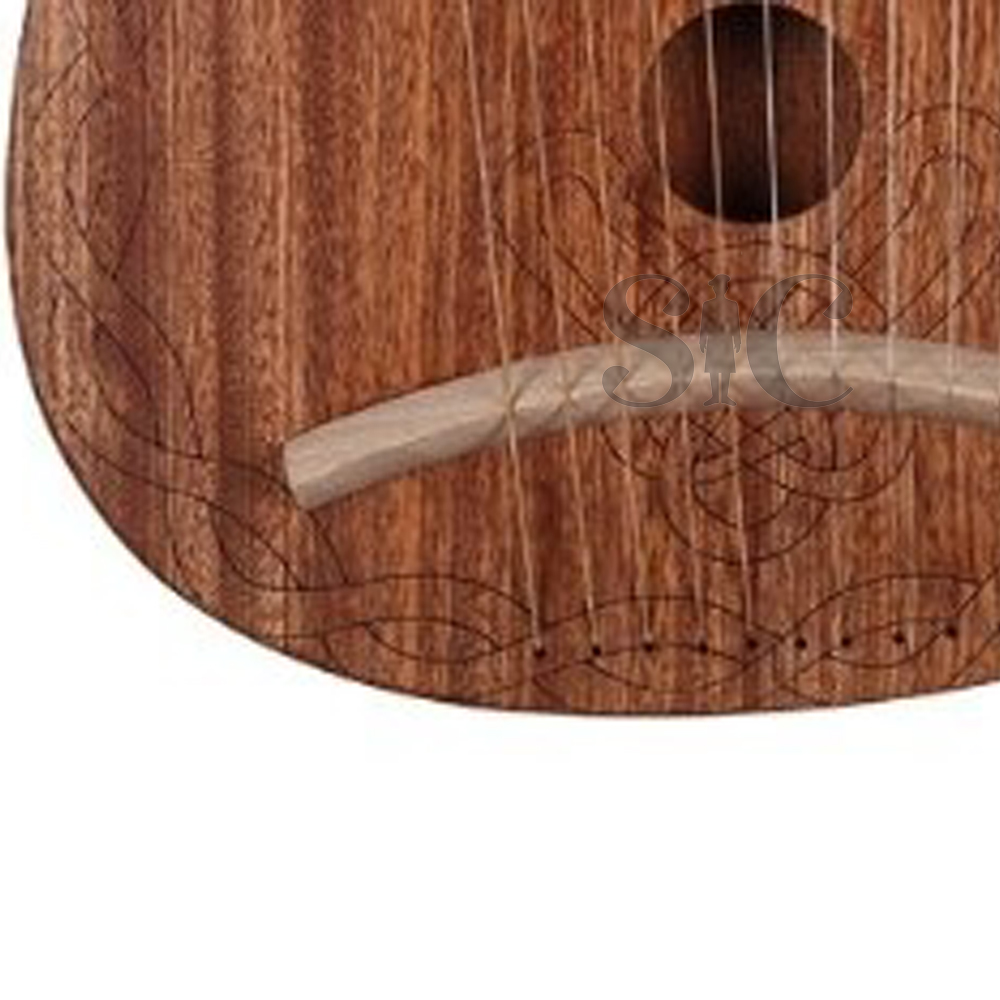 Musical Instrument Lyre Harp 10 String Wooden Colour Harp Design 6