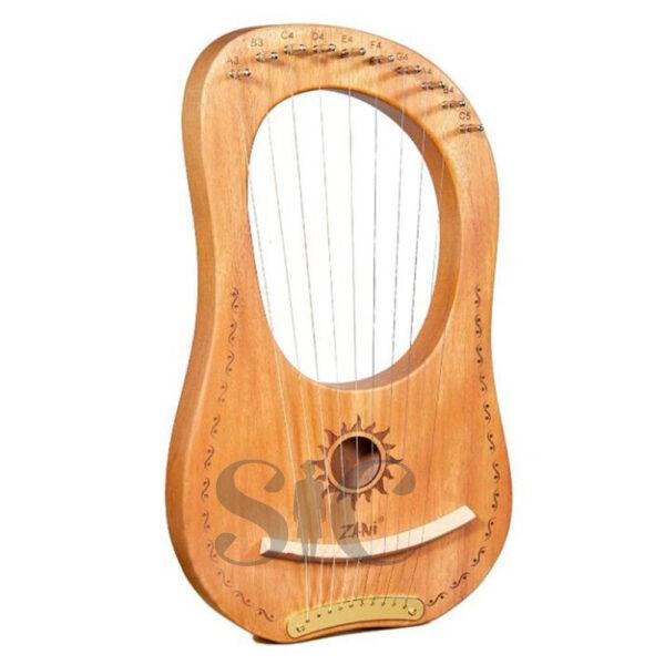 ZANi Lyre Harp Greek Violin 10 String Lyre Harp Design 27
