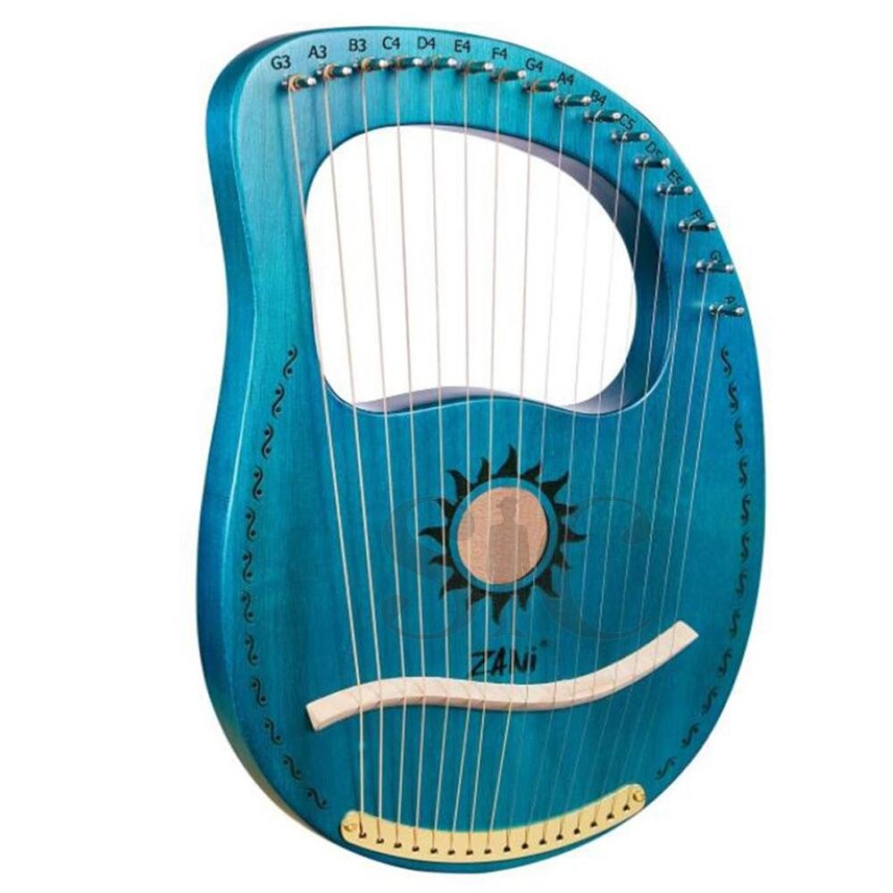 ZANi Lyre Harp,16 Metal Strings Mahogany Lyre Design 20