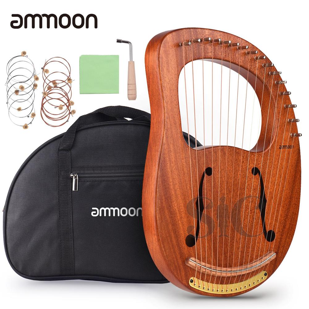 ammoon WH-16 16-String Wooden Lyre Harp Design 15
